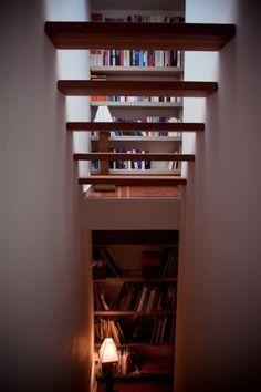 Xenia Hausner - Freunde von Freunden — Xenia Hausner #interior #stairs #bookshelf