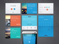 UI Panels #app #web #interface #notes #organization