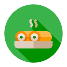 See more icon inspiration related to spring rolls, food and restaurant, cultures, gastronomy, asian food, chinese food and nutrition on Flaticon.