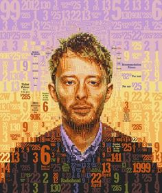 All sizes | Thom Yorke & Coachella by the numbers for OC Weekly | Flickr - Photo Sharing! #radiohead #coachella #graphic #illustration #portrait #mosaic #music #typography