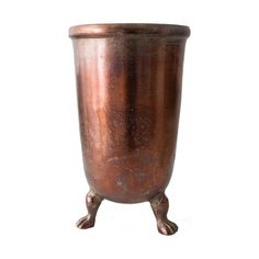 Copper Vase with Legs, Small 34.5 cm H