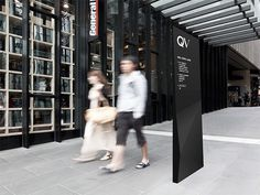 QV Melbourne #monochrome #signage #angular #wayfinding