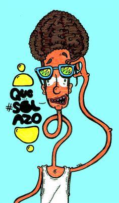 """Solazo"" by Molly Yllom #illustration #character #design"