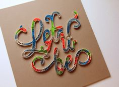 Quilling on Behance #type #materials #paper