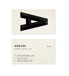 Alvin Diec Biz Card #alvin #business #card #diec #identity