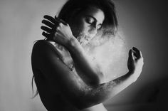 Photo Manipulations by Silvia Grav5 #photo #woman #manipulation #dust