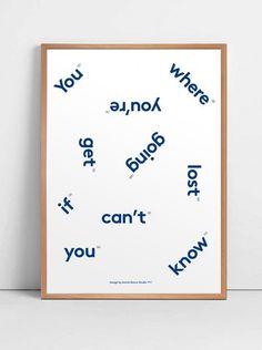 Typographic print #quote #print #poster #type #typography