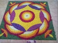 Flower petal rangoli designs