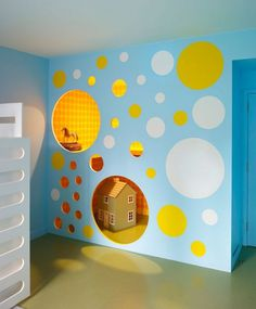 Modern play house in apartment #interior #painting #art #kids #apartment #room