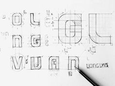 Logotype sketch - Bratus #typeface, #bratus, #sketch, #logo #gridsystem, #vietnam
