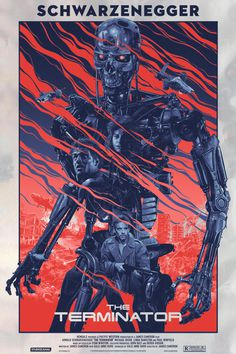 Gabz illustration movie posters #movie #illustration #terminator #postres #film