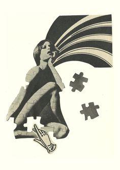 La pieza adecuada #germendetrigo #collage #Murcia #Illustration #art #feminism #puzzle #girl