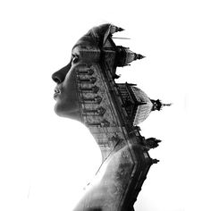 CJWHO ™ (Germany by Aneta Ivanova Double exposure...) #art #photography #landscape #portrait #black and white