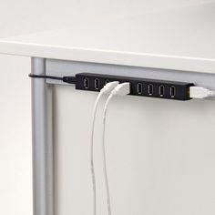 Magnetic 10-Port USB Hub #usb #hub #gadget