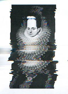 queenz #graphic #glitch #static