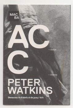 Macba. Peter Watkins Program.