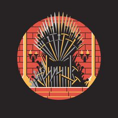 Game of Thrones by DKNG #icon #flat #flat icon
