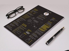 Free Creative Resume Template with Black Color Scheme
