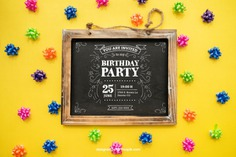 Happy birthday concept with slate Free Psd. See more inspiration related to Mockup, Birthday, Happy birthday, Party, Anniversary, Celebration, Happy, Candy, Chalkboard, Mock up, Decoration, Decorative, Celebrate, Birthday party, Sweets, Festive, Up, Birth, Happy anniversary, Concept, Slate, Annual, Composition and Mock on Freepik.