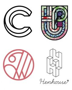 My eye is attracted to the top right, love the contrast of bold lines, pattern, and color #identity #logos