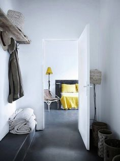 industrial home #yellow #bedroom