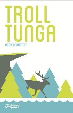 Scandinavian travel poster for the Rykke ferry service. #norway #troll #reindeer #tree #pine #tunga #scandinavia #rykke