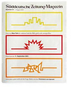 Paul Sahre: Selected Work: Süddeutsche Zeitung Magazin #cover #book