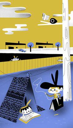 EME magazine on Behance #illustration #retro #magazine