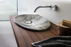 Inspired by nature, the Caldera sink gets its name and also its material from volcanic activity. This exact shape is what the Australian-bas