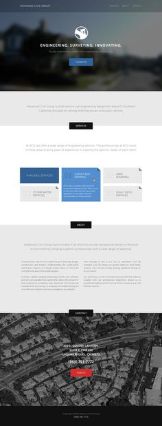 Civil Engineering Site #flat #white #page #clean #minimal #nova #proxima #web #landing