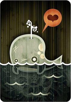 FFFFOUND! | Inspiration: Alberto Cerriteño | Abduzeedo - graphic design | design inspiration | design tutorials #heart #whale #alberto #wood #cerriteo