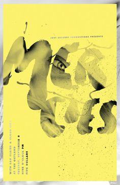 Poster Design by Garrett DeRossett #poster #typography