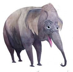 Brendan Wenzel → Asian Elephant #illustration #elephant