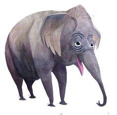 Brendan Wenzel → Asian Elephant