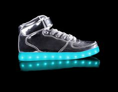 Light Up Shoes Mens Metallic Super Nova (Silver)