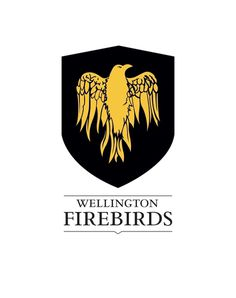 Cricket Wellington on Branding Served #crest #phoenix #bird #shield #logo