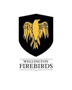 Cricket Wellington on Branding Served #crest #phoenix #bird #shield #logo