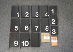 Things Organized Neatly #numbers #things organized neatly #notebooks