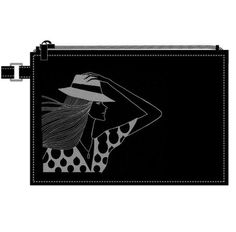 Hiroshi Tanabe _ purse #fashion #illustration #black