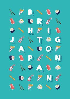 Brighton/Japan on Behance #illustration #lettering #typography