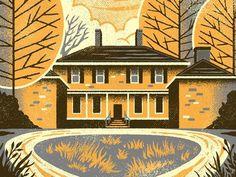 Adena Poster #illustration #house