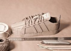 Adidas Originals with Cardboard4 #adidas #cardboard #originals #sneakers #art #paper