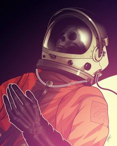 Newer Stuff 2010 on the Behance Network #astronaut #illustration #vintage #skull