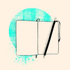 Blank Page Art Print #illustration #moleskine