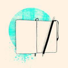 Blank Page Art Print #illustration #moleskine
