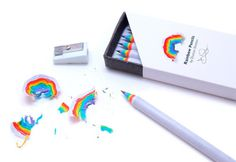 Rainbow Pencils.