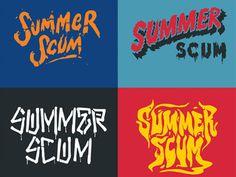 typography, summer