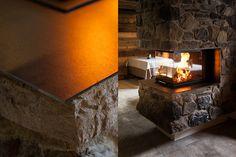 Hafnerei Tyrol on Behance #stone #austria #design #pitztal #architecture #fire #fireplace