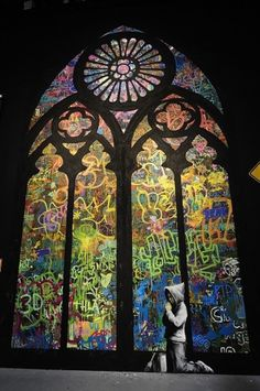 ARTINFO - #art #graffiti #banksy #stained window