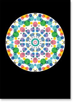 Dot by Matilda Saxow #kaleidoscope #color #dot #poster